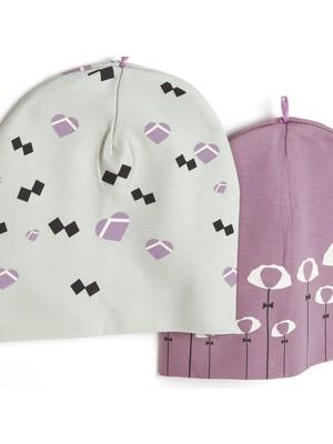 Hello Baby Bahçe Kız Bebek 2li Şapka
