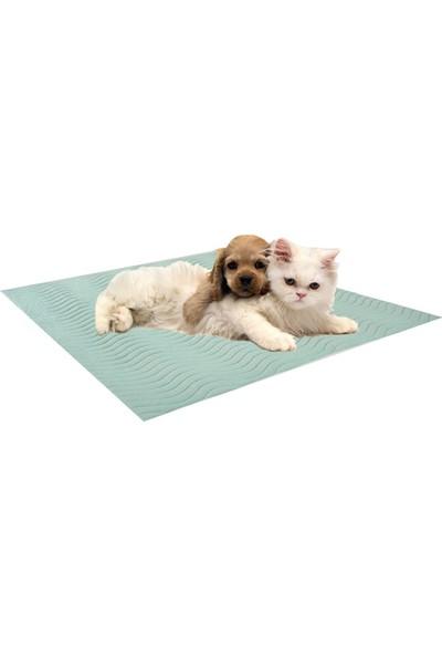 Abend Sıvı Geçirmez Yıkanabilir Çok Amaçlı Kedi Köpek Pedi-Mavi
