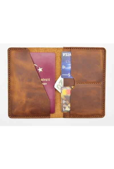 Lost Slope Hakiki Deri Pasaport Cüzdanı