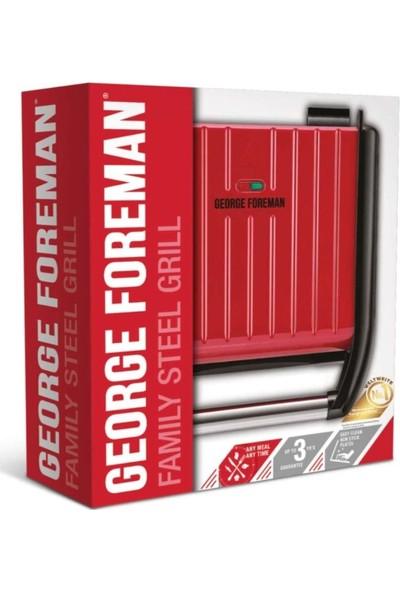 George Foreman GF-25040-56 Steel Kırmızı Izgara