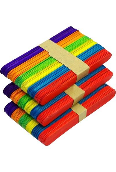 Hobialem 50 Adet, Renkli Dil Çubuğu, Geniş Doktor Çubuğu, Dondurma Çubuğu, Abeslang