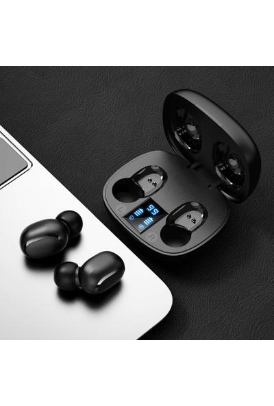 Konka KT10 Tws Akıllı Dijital Ekran Bluetooth Kulaklık Siyah (Yurt Dışından)