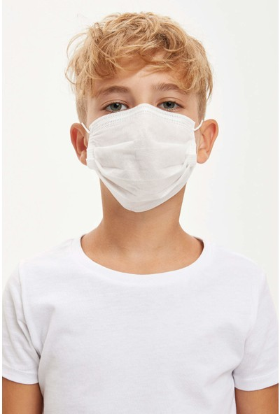 Tek Hijyenik Beyaz Çocuk Maskesi 50 Adet