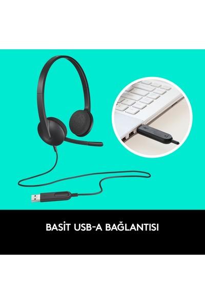 Logitech H340 USB Kulaklık-Siyah