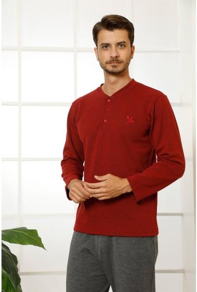 Akbeniz Erkek %100 Pamuk Cepli Uzun Kollu Pijama Takımı 6762