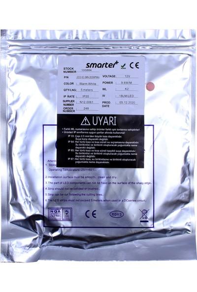 Smarter 2835 Çipli Iç Mekan Şerit LED (5 METRE)(12V)(60 Led)(Gün Işığı)