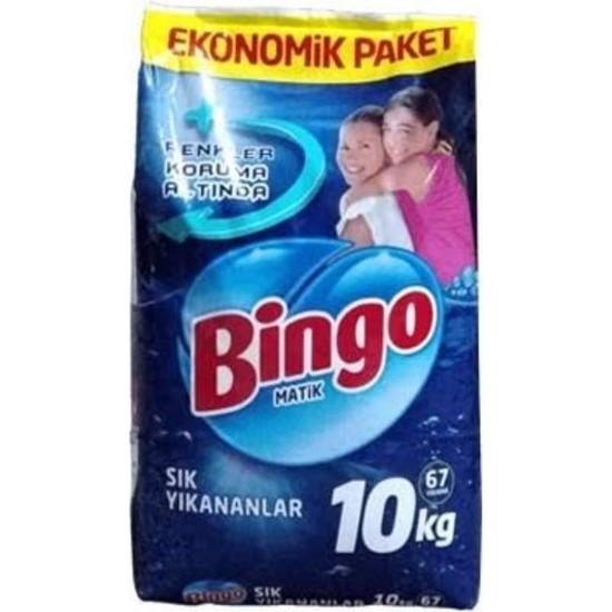 Bingo 67 Yıkama Beyazlar ve Renkliler Toz Deterjan 10 kg