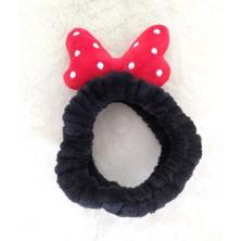 Hd Marketim Mickey Mouse Peluş Bandana Saç Bandı Kadın Makyaj Bandı Yüz Yıkama Elastik Kadife Polar Moda