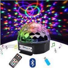 Torima Crsytal Mp3 LED Magıc Ball Light Siyah
