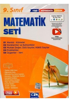 Çap 2021 9. Sınıf Matematik Anadolu Seti