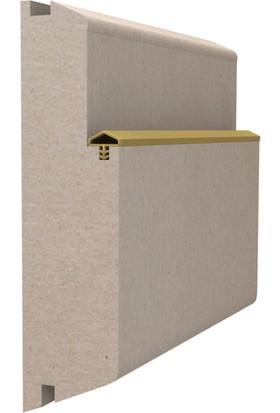 Contacall Ortadan Tırnaklı Çatı Tipi 12 mm Ahşap Kapı Amerikan Panel Kapı Fitili 100 M Kahve Renk