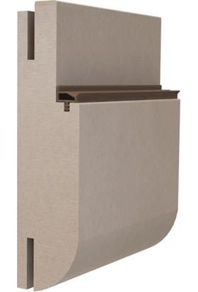 Contacall Ortadan Tırnaklı Eğik Çatı Tipi 11 mm Ahşap Amerikan Panel Kapı Fitli Krem Renk 100 M