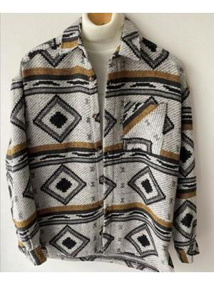 Marrakech Aztec Vintage Etnik Desen Gömlek