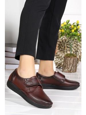 Woggo P 23 Rahat Konfor Özel Topuk Jeli Anne Günlük Ayakkabı