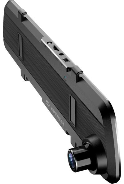 Everest EVERCAR X03 4.7 Inch Ekran 120 Lens Açısı 720P / 1080P Dikiz Aynası Ön/Arka Araç İçi Kamera