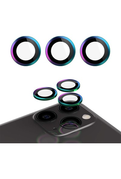 Carino Iphone 12 Için Arka Kamera Halkası Renkli (Yurt Dışından)