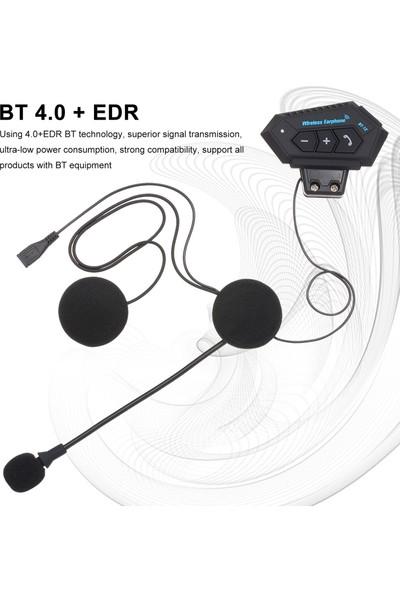 Sprotauto Motosiklet Kask Kulaklık Bluetooth 4.0 + Edr Kulaklık (Yurt Dışından)