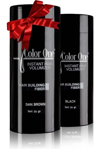 Color One Dolgunlaştırıcı Saç Tozu Topik Koyu Kahve 2 Adet x 50 gr