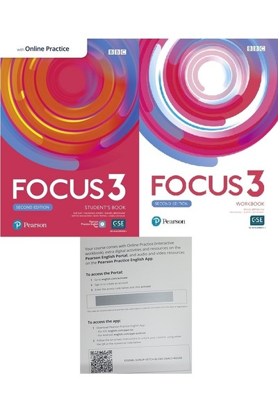 Pearson Education Yayıncılık Focus 3 Student's Book With Online Practice + Workbook+ Word Store (2nd Ed)
