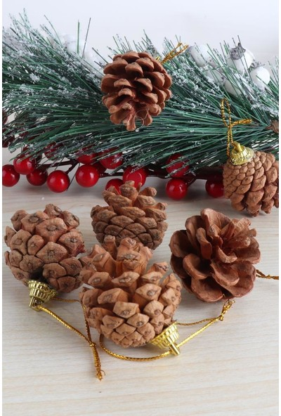 Beysüs Yılbaşı Çam Ağacı Mini Kozalak Gold YIL210328 5 cm
