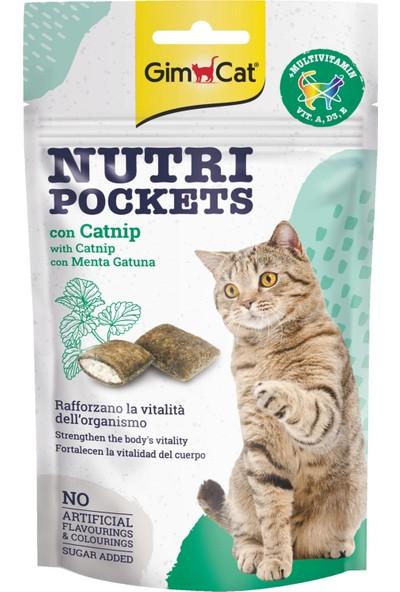 Gimcat Nutripockets Kedi Ödülü Kedi Otu Multivitamin 60Gr