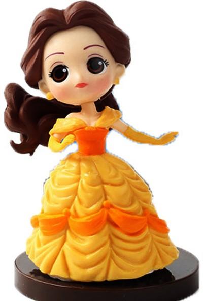 Bandai Q Posket Disney Prenses Belle Güzel ve Çirkin Aksiyon Figür 8 cm