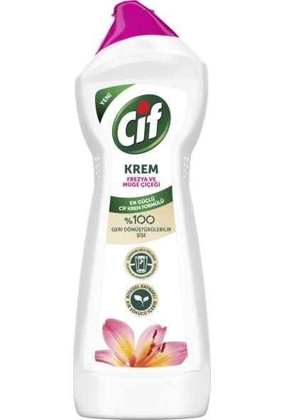 Cif Krem Yüzey Temizleyici Frezya Ve Müge Çiçeği Klor Boya Fosfat Paraben İçermez 750 ML 1 Adet