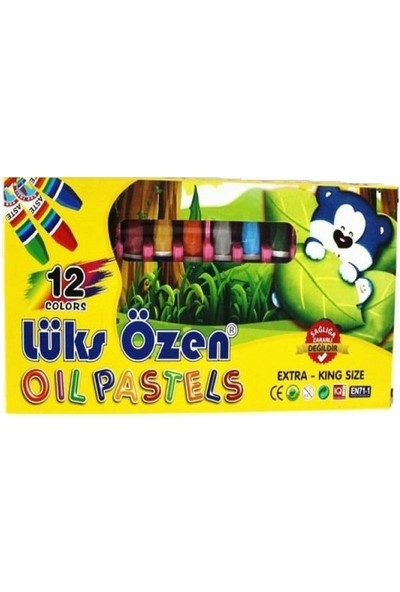 Lüks Özen Pastel Boya 12 Renk Karton Kutu