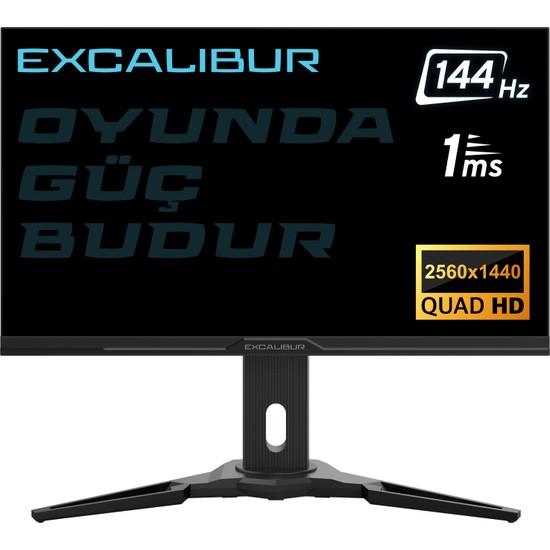 "Casper Excalibur E27QHD-G 27"" 144Hz 1ms (HDMI+Display) FreeSync + G-Sync 2K QHD LED Monitör"