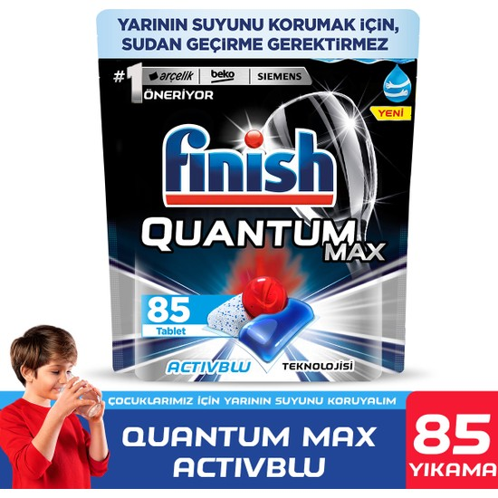 Finish Quantum Max Bulaşık Makinesi Deterjanı 85 Kapsül