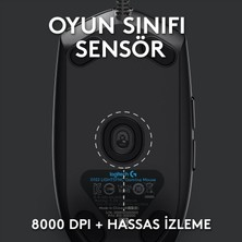Logitech G G102 LIGHTSYNC 8.000 DPI Kablolu Oyuncu Mouse - Siyah