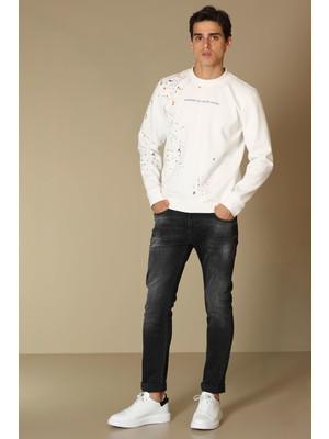 Lufian Costa Smart Jean Erkek Pantolon Slim Fit Antrasit