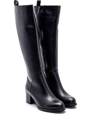 Derimod Kadın Fermuarlı Topuklu Çizme