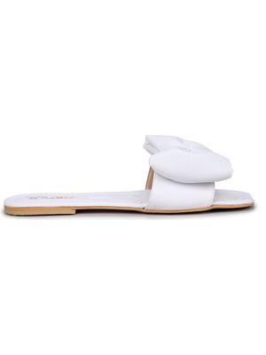Woggo Pnt 579098 Fiyonk Model Günlük Yürüyüş Kadın Terlik Beyaz