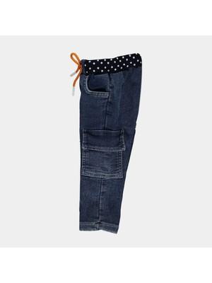 Overdo Kargo Cepli Işlemeli Erkek Çocuk Kot Pantolon