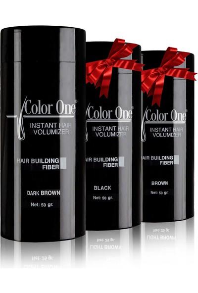 Color One Dolgunlaştırıcı Saç Tozu Topik Koyu Kahve 3 Adet x 50 gr