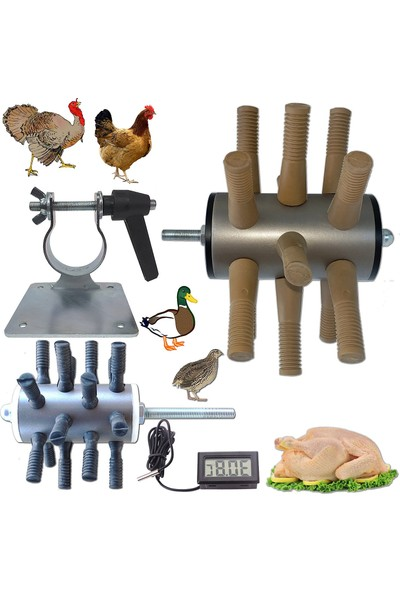Meltem Tavuk ve Kuş Yolma Aparatları + Matkap Tutucu + Isı Ölçer