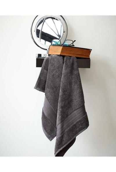 Mco Tekstil Gri Havlu Seti Velvet