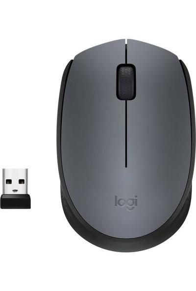 Logitech M170 USB Alıcılı Kablosuz Mouse - Gri