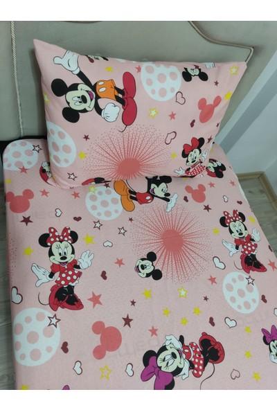 Mert Tek Kişilik Mickey Mouse Nevresim Çarşaf Takımı