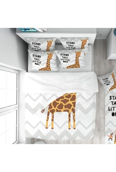 Tropik Home Zikzaklı Zürafa Çocuk Nevresim Takımı %100 Pamuk Saten
