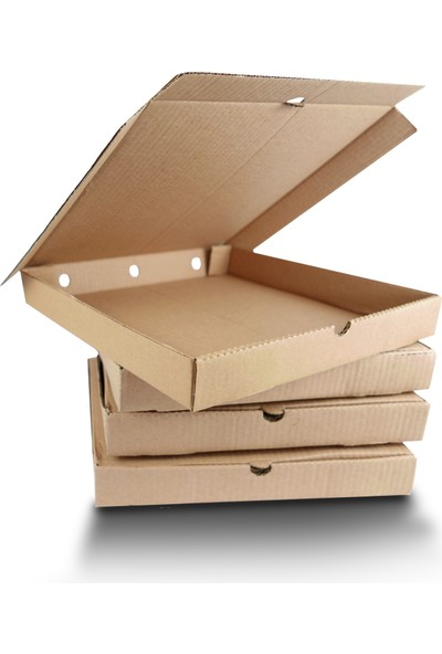 Boxplant Baskısız Pizza Kutusu 28 x 28 x 4 cm