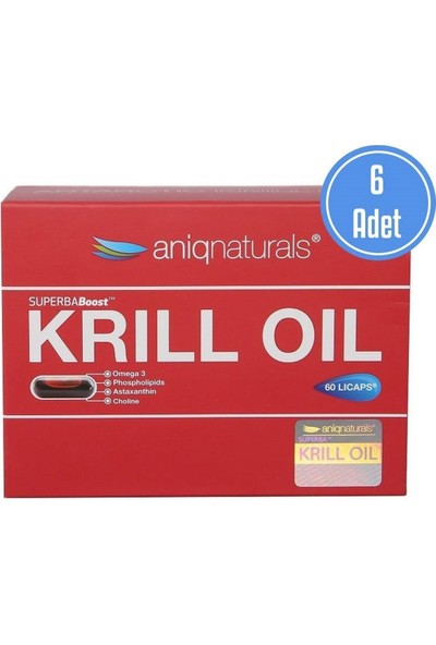 Aniqnaturals Krill Oil 60 Licaps 6 Adet