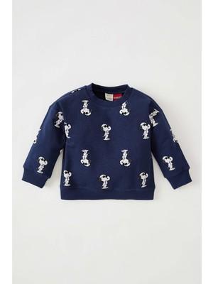 DeFacto Erkek Bebek Snoopy Lisanslı Regular Fit Sweatshirt V9472A221AU