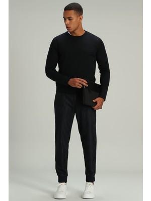 Lufian Focus Spor Erkek Chino Pantolon Tailored Fit Lacivert