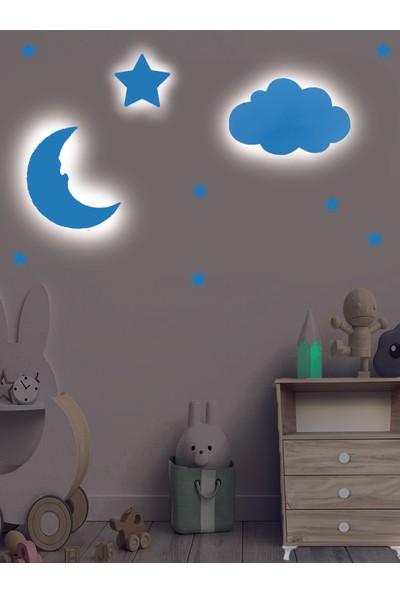 Temosan Dekoratif Bulut&ay&yıldız LED Duvar Lambası