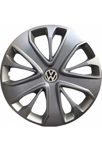 Hmnl Volkswagen Caddy 15'' Inç Gri 4'lü Set Jant Kapağı Çelik Jant Görünümlü