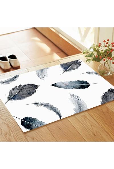 Melay Mini Paspas Kuş Tüyü Desenli