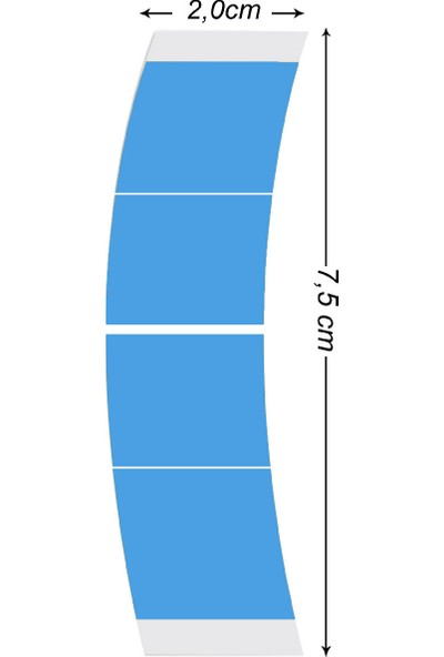Walker Tape Mını Strıps Lace Front Support Tape 72Pc/Bag