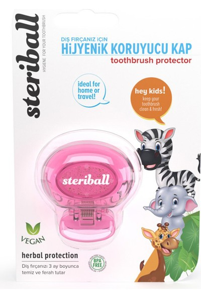 Steriball Diş Fırçası Koruma Kabı Çocuk Zebra